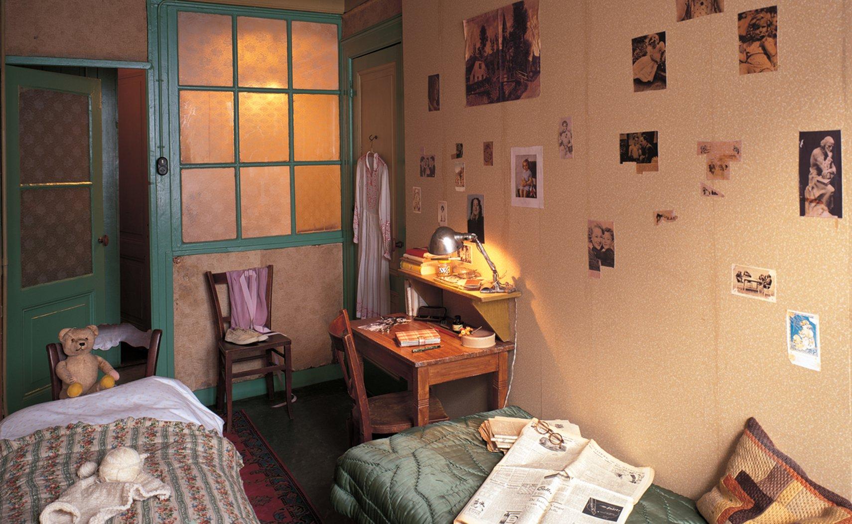 La habitación de Ana Frank y Fritz Pfeffer en la Casa de Atrás