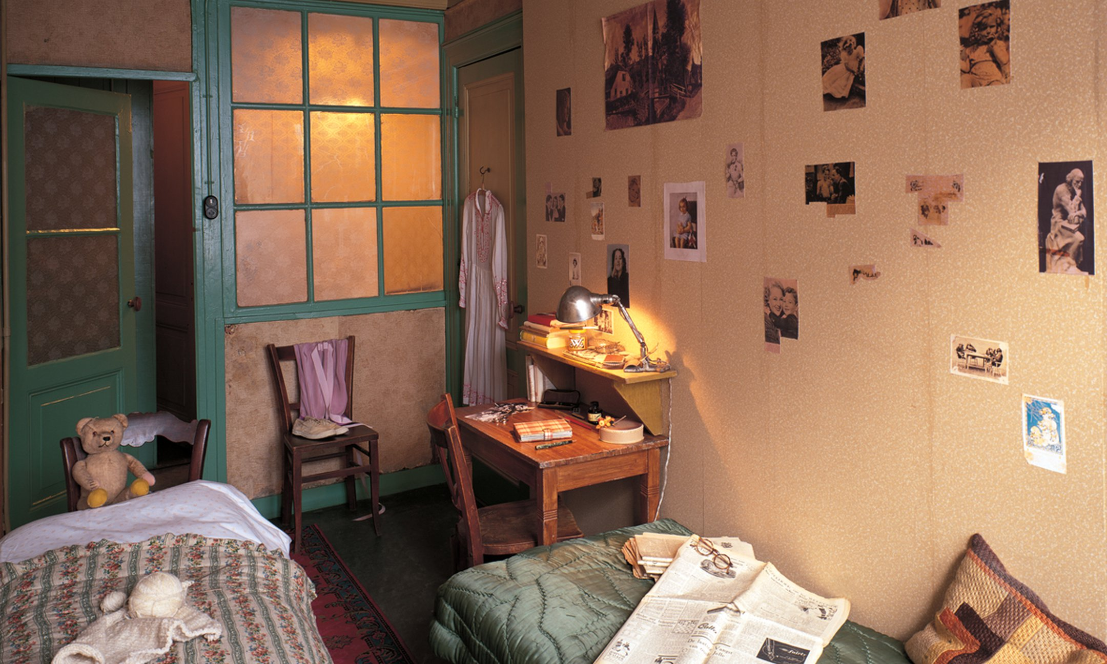 The room in the Secret Annex Anne Frank shared with Fritz Pfeffer